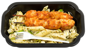 Kycklingspett Hot chili med pasta